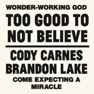 Too Good To Not Believe